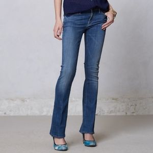 Mother The Runaway Skinny Flare Medium Kitty Jeans